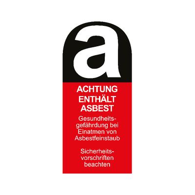 Aufkleber Achtung enthält Asbest 11cm