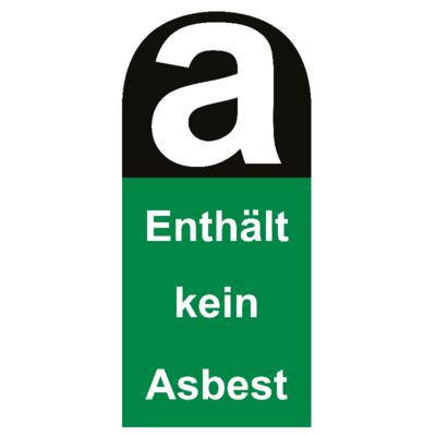 Aufkleber enthält kein Asbest 22cm