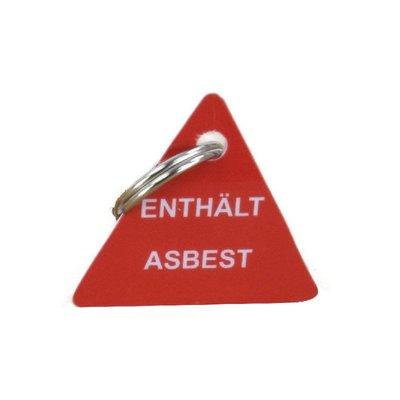 Schlüsselanhänger enthält Asbest