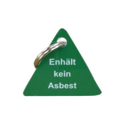 Schlüsselanhänger enthält kein Asbest