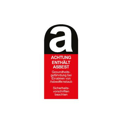 Aufkleber Achtung enthält Asbest 5,5cm