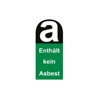 Aufkleber enthält kein Asbest 5,5cm