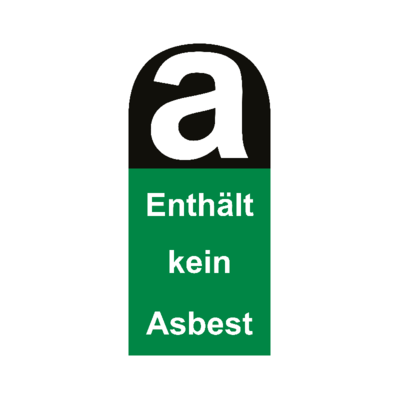 Aufkleber enthält kein Asbest 11cm