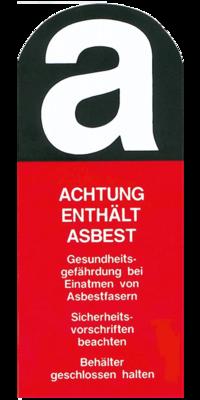 Aufkleber Achtung enthält Asbest 22cm